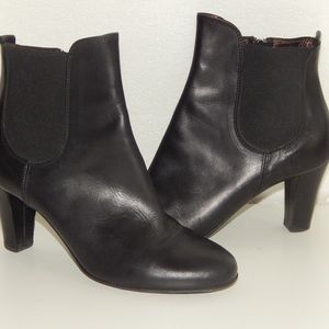AGL black leather ankle heeled boots 36.5 us 6.5